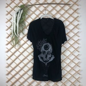 OBEY Skull Moons Witchy Dark Magic Black T-Shit